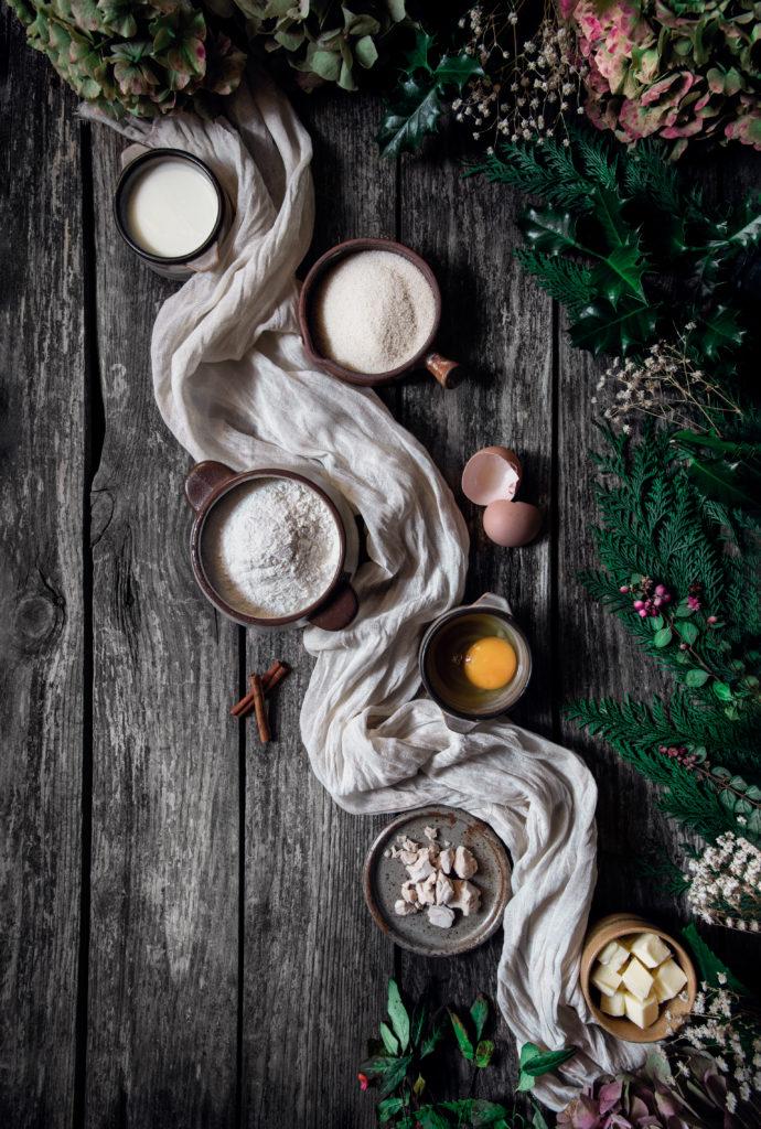 Ingrédients Couronne de Noël à la cannelle