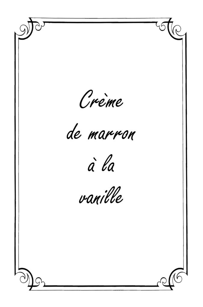 Crème de marron à la vanille