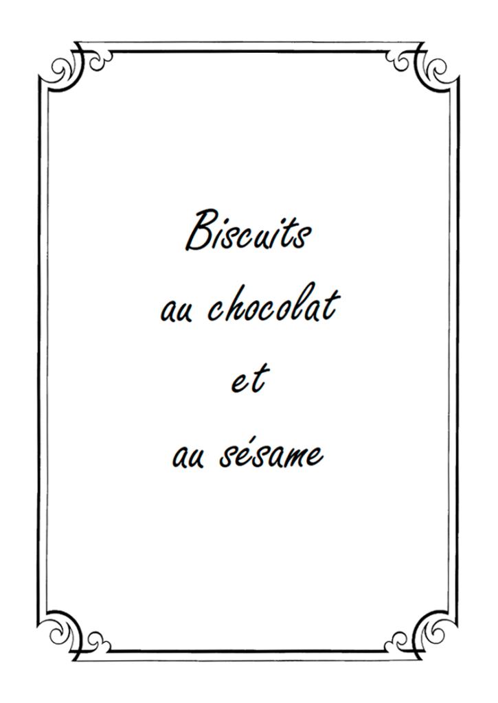 Biscuits au chocolat et au sésame
